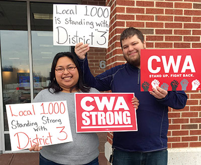 Local 1000 stands with CWA D3