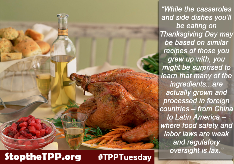 The TPP could affect your Thanksgiving